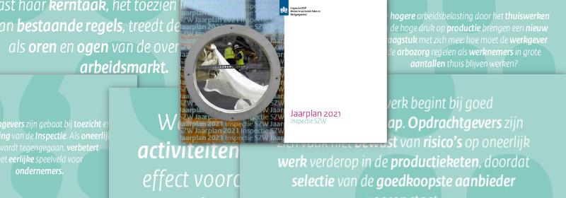 Hoe het SZW gaat handhaven in 2021 staat in het jaarplan 2021